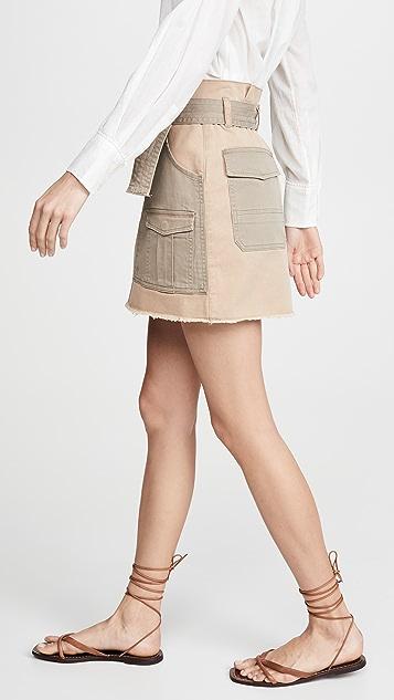FRAME 纸包多色半身裙