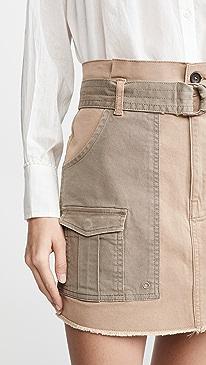 Paperbag Multi Tone Skirt