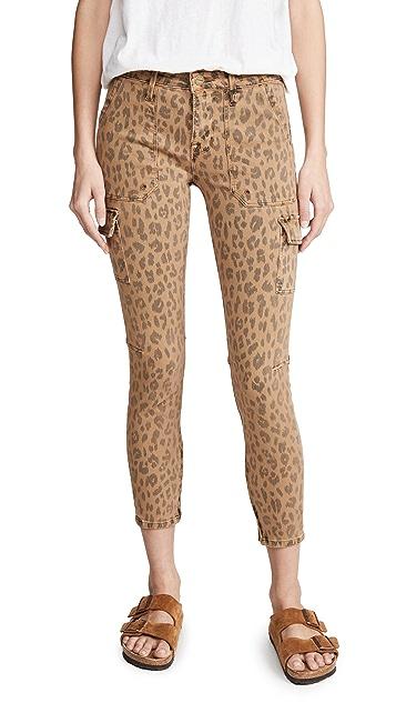 FRAME Spring Cheetah 工装紧身牛仔裤