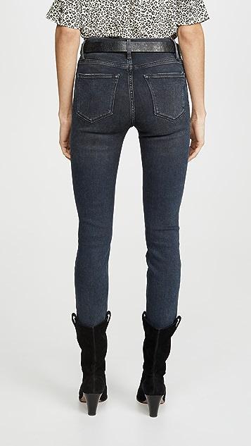 FRAME Le High Raw Edge Skinny Jeans