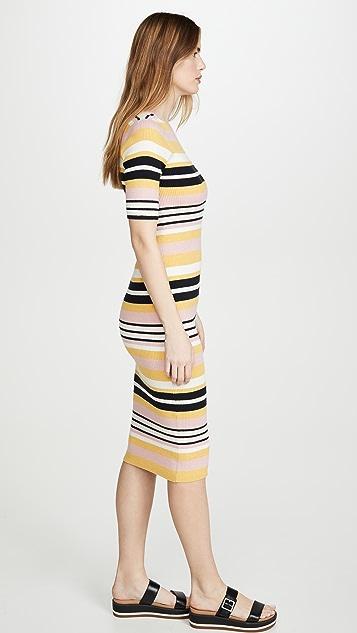 FRAME Baja 条纹连衣裙
