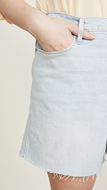 FRAME Le Tour 毛边短裤