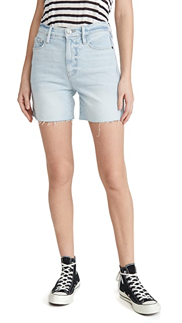 FRAME Le Tour Raw Edge Shorts