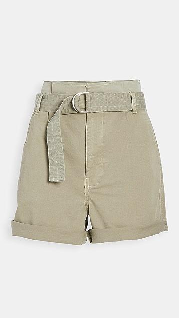 FRAME Safari Belted Shorts