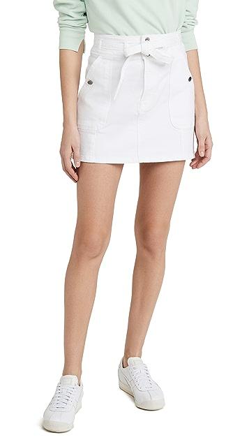 FRAME Le Triple Waist Mini Skirt