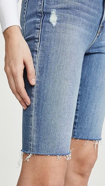 FRAME Le 复古喷砂接缝百慕大短裤