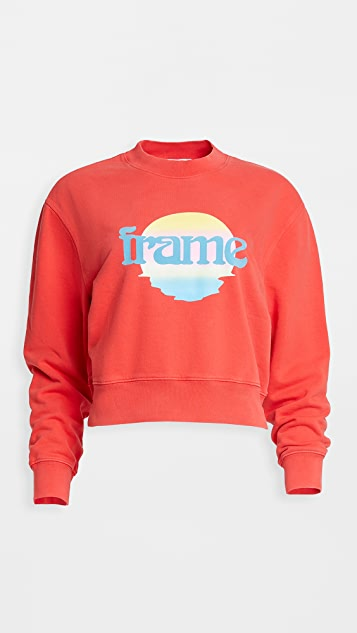 FRAME Easy Crew Sunset Sweatshirt