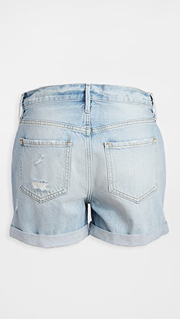 FRAME Le Beau Cuff Shorts