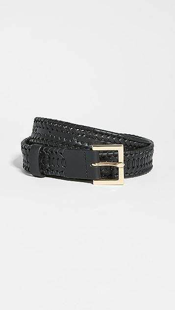 FRAME Square Buckled Braided Belt
