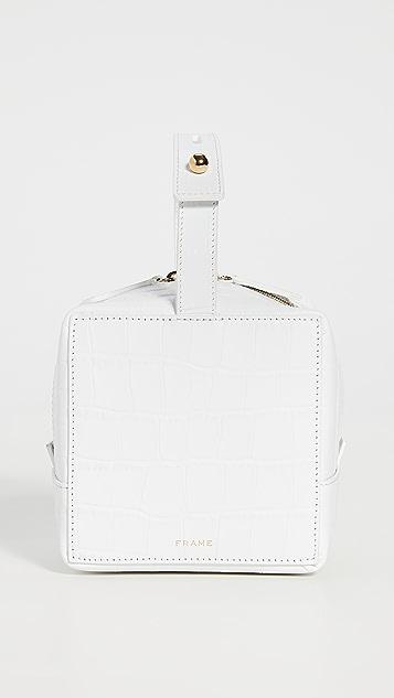 FRAME Les Second Croco Cube Bag