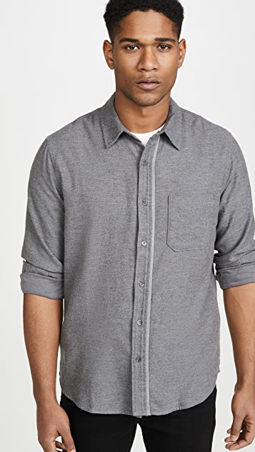 FRAME Long Sleeve Brushed Flannel Shirt