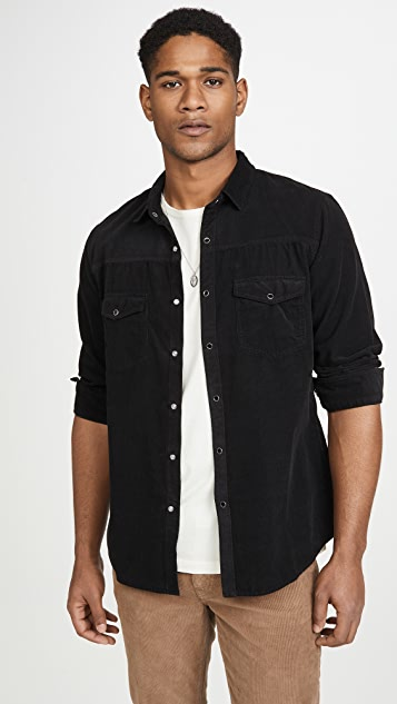 FRAME Long Sleeve Corduroy Western Shirt