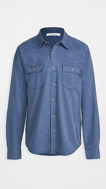 FRAME Double Pocket Button Down Shirt