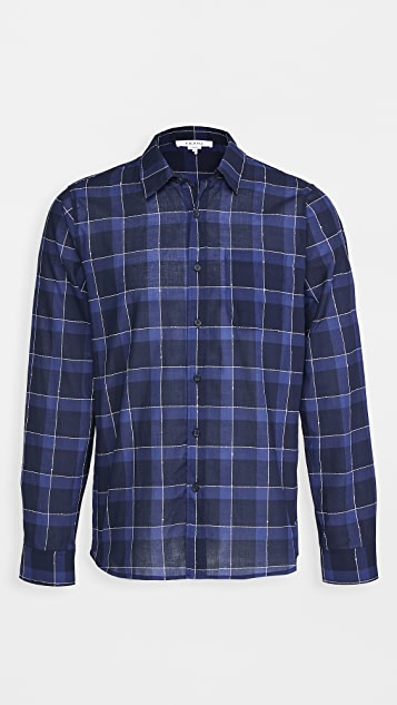 FRAME Single Pocket Button Down Shirt