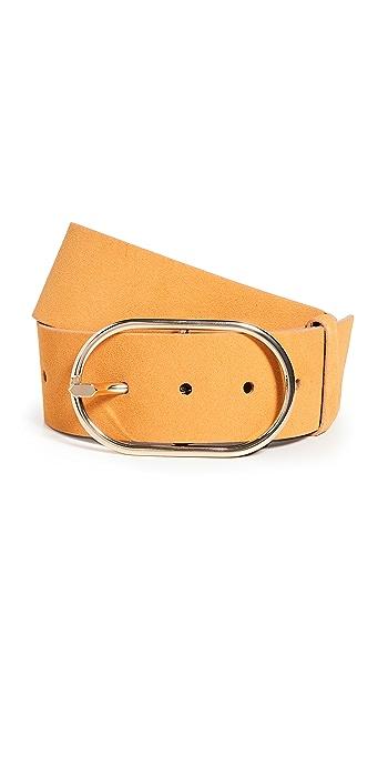 FRAME Grand Oval Buckle Belt - Camel