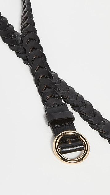 FRAME 编织小号 O 型环双环绕式腰带