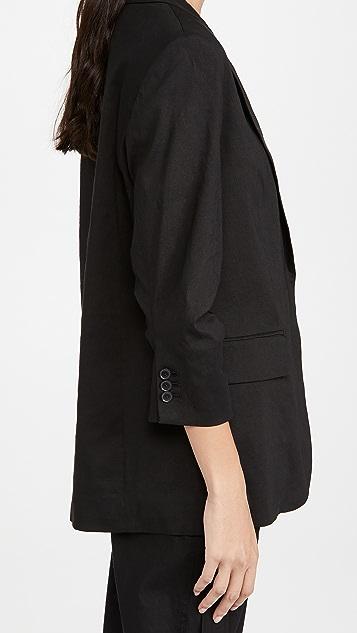 FRAME 裥褶男友风格西装外套