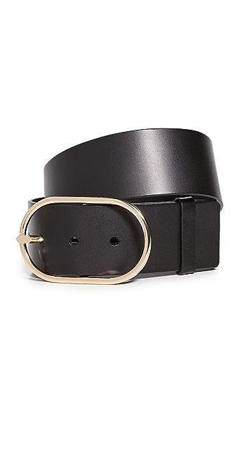 FRAME Grand Oval Buckle Belt - Noir