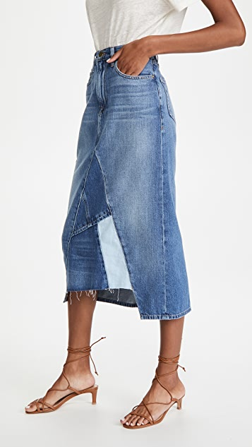 FRAME Le Midi Skirt Patch Work