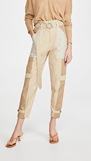 FRAME Tonal Blocked Cargo Pants
