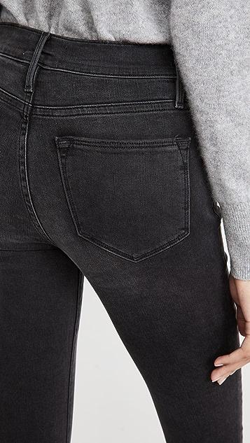 FRAME Le High Skinny Crop Released Hem Jeans