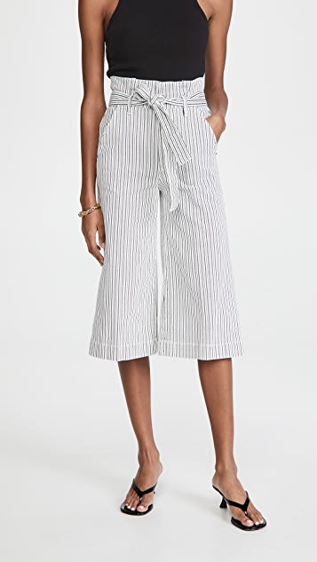 FRAME 系腰带裥褶裙裤