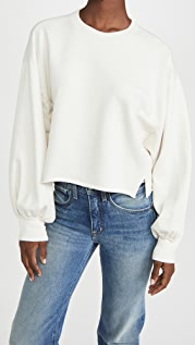FRAME Easy Shirtail Sweatshirt