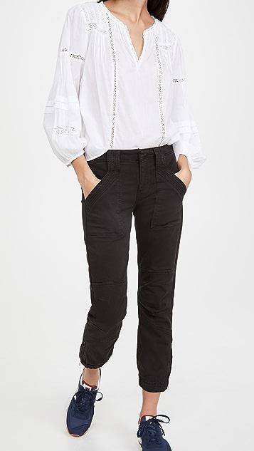FRAME Banded Bottom Trapunto Moto Pants