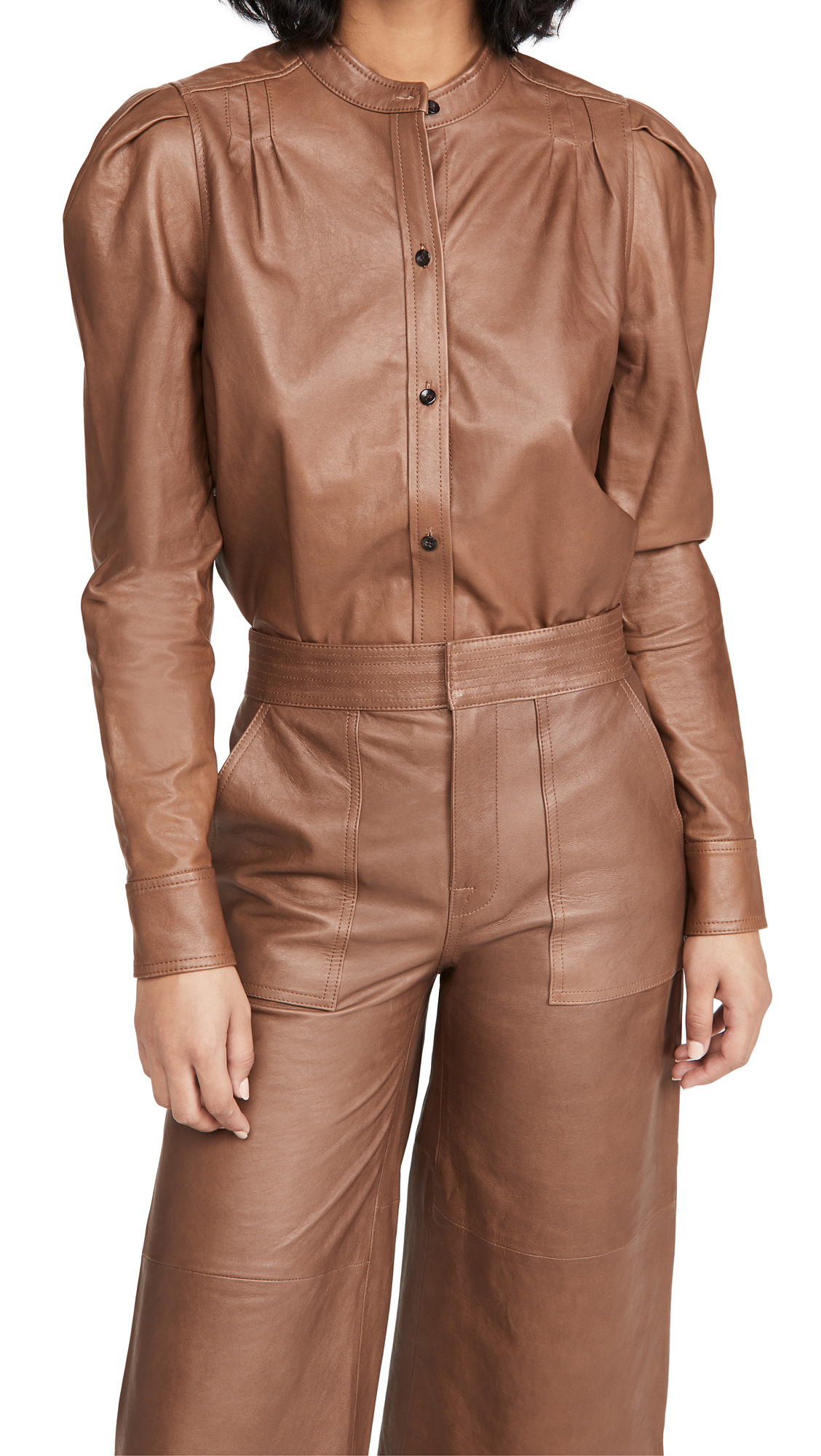 FRAME Charlie Leather Top