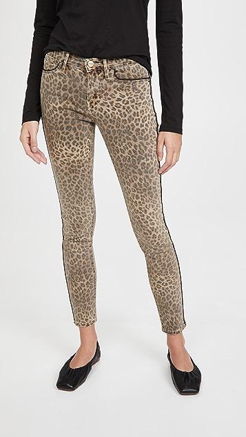 FRAME Le Skinny De Jeanne Leopard Jeans