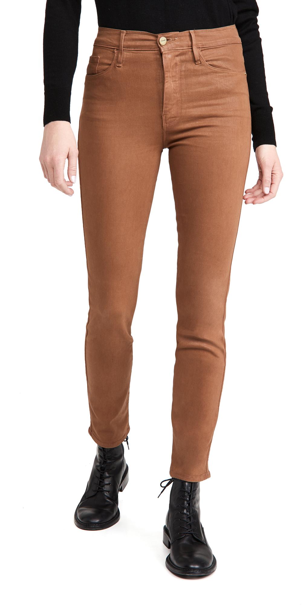 FRAME Le Sylvie Coated Jeans