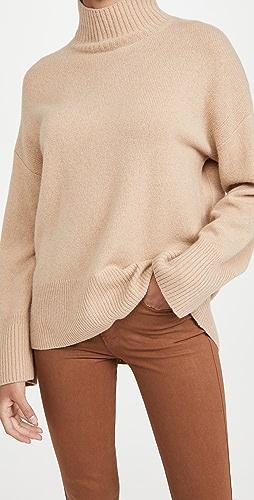 FRAME - 高低不对称高领毛衣