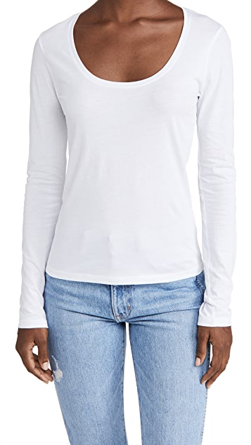 FRAME Le Mid Rise Scoop Long Sleeve