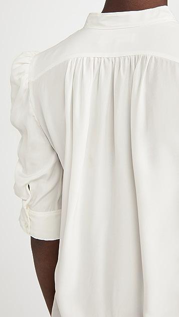 FRAME 抽褶衣袖系扣上衣