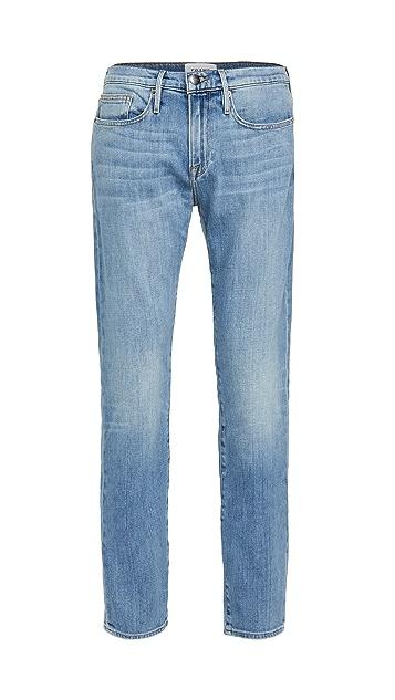 FRAME L'Homme Slim Jeans in Noland Wash