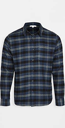 FRAME - Long Sleeve Check Single Pocket Shirt