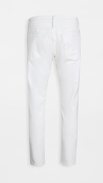 FRAME L'Homme Slim Jeans in Whisper White Wash