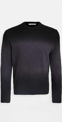 FRAME - Long Sleeve Dip Dye Crew Neck Sweater