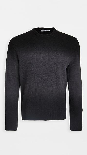 FRAME Long Sleeve Dip Dye Crew Neck Sweater