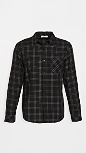 FRAME Long Sleeve Plaid Single Pocket Shirt
