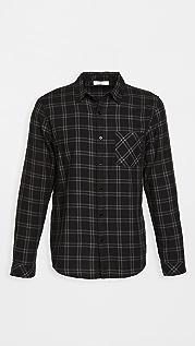 FRAME Long Sleeve Plaid Single Pocket Shirt