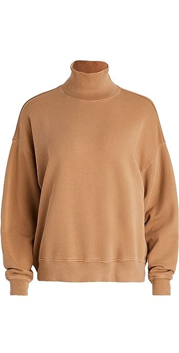 FRAME Funnel Neck Sweatshirt - Vintage Camel