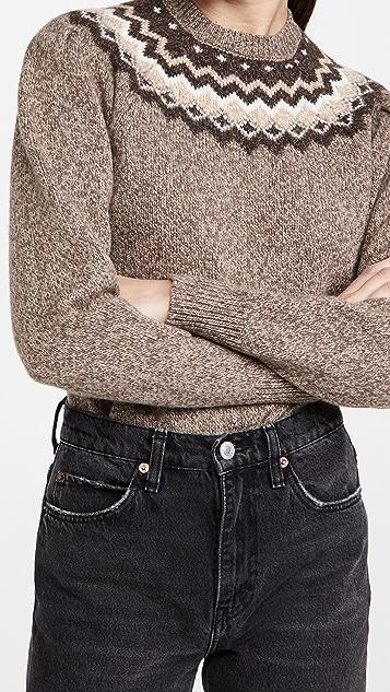 FRAME Fair Isle Crew Sweater