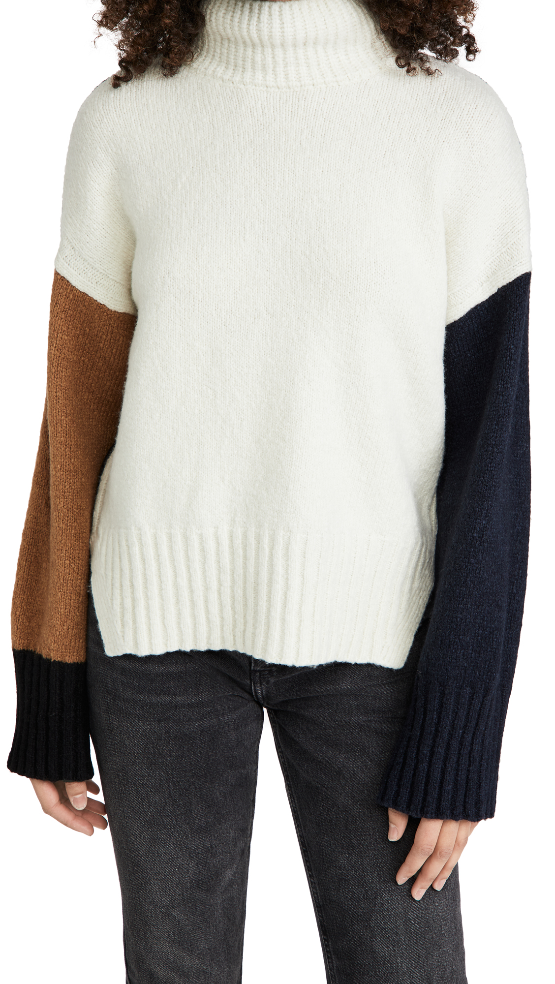 FRAME Color Blocked Sweater
