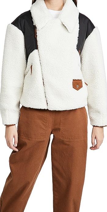 FRAME Fleece Mix Jacket - Off White Multi