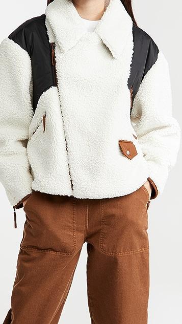 FRAME 绒布混合夹克