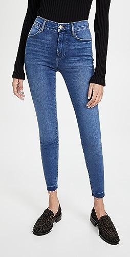 FRAME - Le High Skinny Raw Edge Jeans
