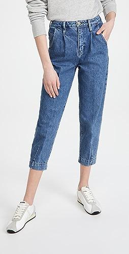 FRAME - Pleated Barrel Leg Pants