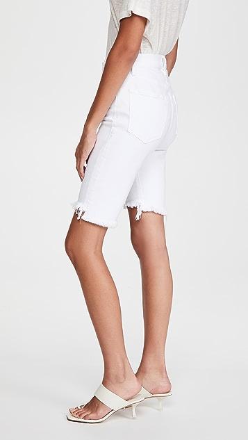 FRAME Le Vintage Bermuda Raw Stagger 短裤
