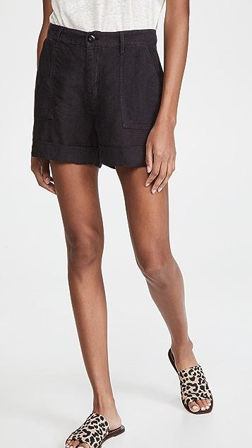 FRAME Le Beau 亚麻短裤
